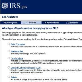 Get an employee identification number (EIN).