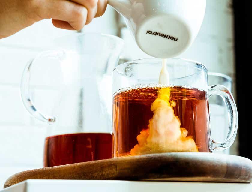 Nomes para empresas de chá com leite