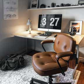 Set up a separate, private home office if working from home.