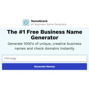 Use a business name generator.