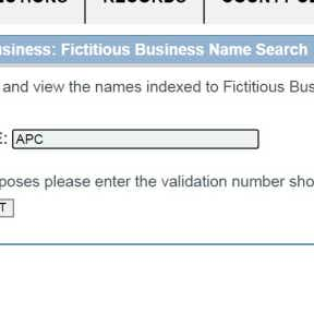Perform a fictitious business name (FBN) search.